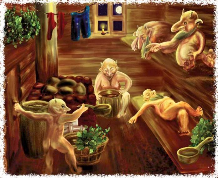 Духи в бане