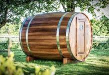 Баня-бочка – оригинальная конструкция