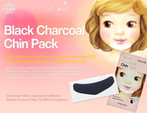 Патчи для подбородка Etude House Black Charcoal Chin Pack
