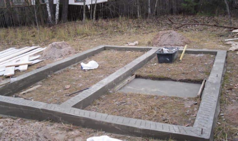 подготовка фундамента под баню