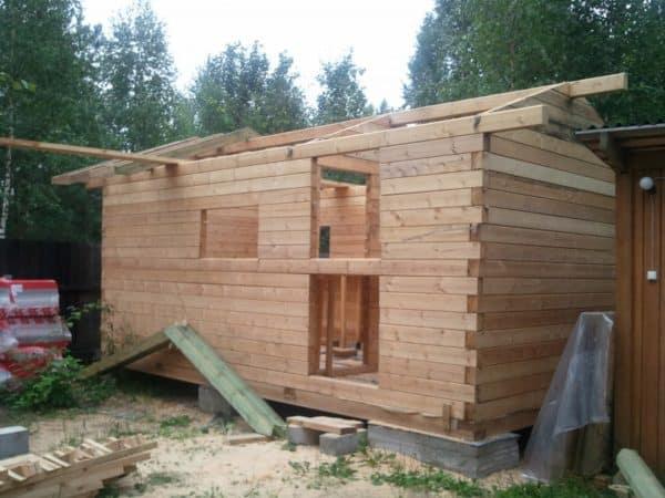 Как построить баню из бруса своими руками - инструкция