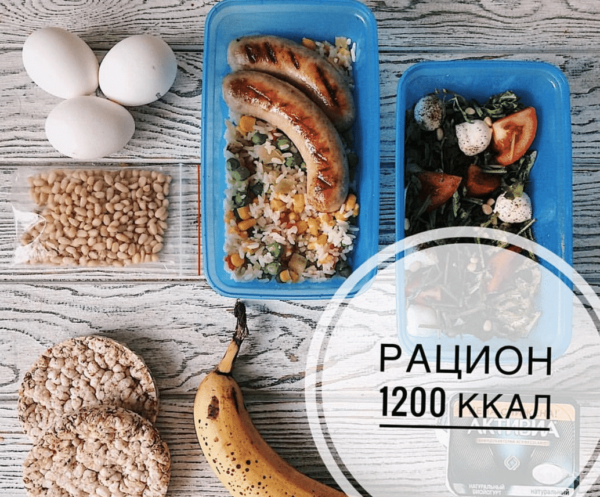 Диета на 1200 калорий в день меню на неделю