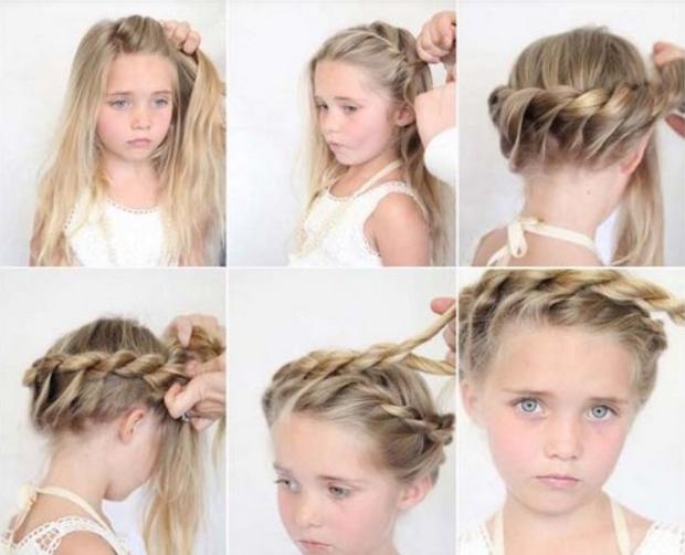 Прически для девочек на средние волосы своими руками: фото