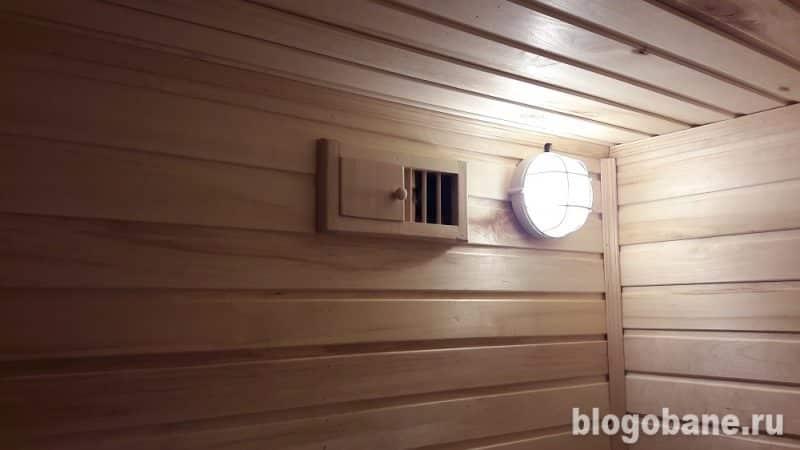 Установка правильной вентиляции в бане