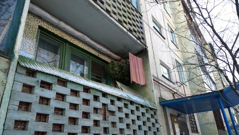 Веники на балконе