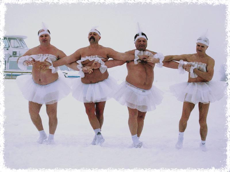 танец на снегу