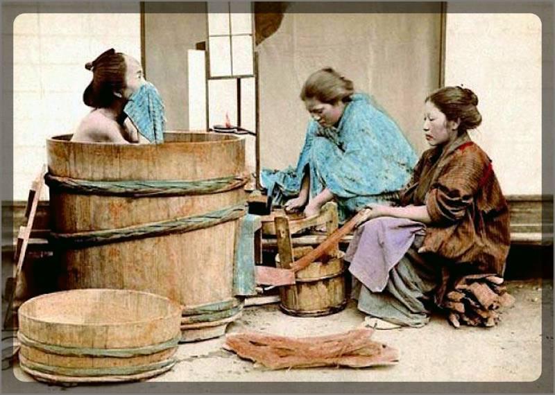 Японская баня-бочка