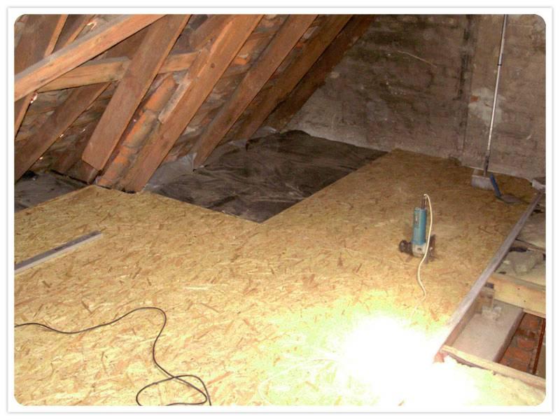 Завершение утепления потолка