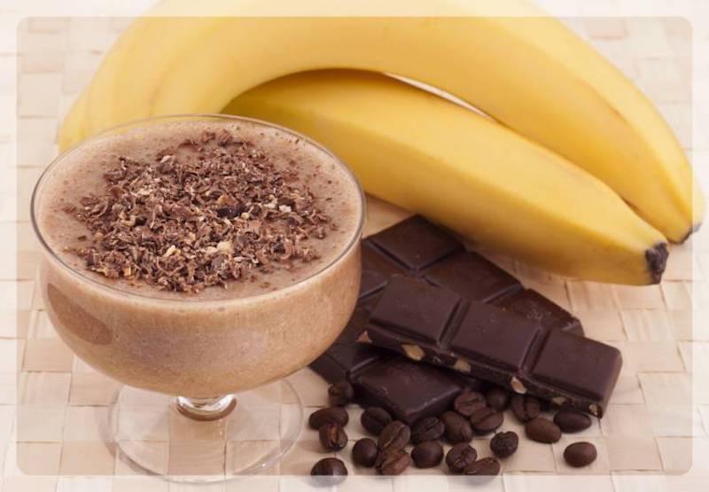 шоколад и банан